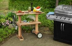 Build a Rolling Grill Table