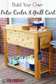 Patio Cooler & Grill Cart