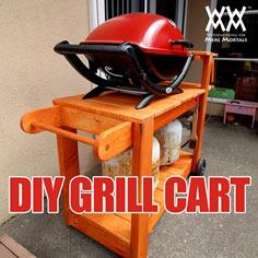 DIY barbecue grill cart