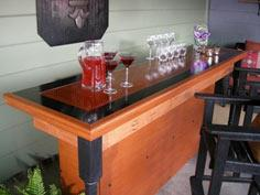 Build a Bar Using a Reclaimed Door For the Top