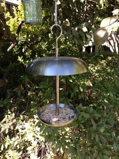 Stainless steel hanging bird feede