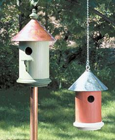 Metal Roof Birdhouse