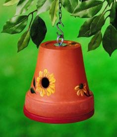 Clay Pot DIY Birdhouse Vertical
