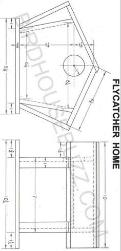 Flycatcher Bird House Plans