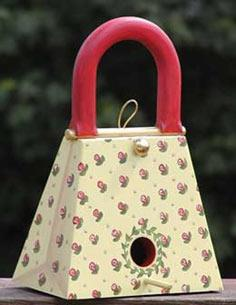 The RunnerDuck Purse Birdhouse, step by step instructions.