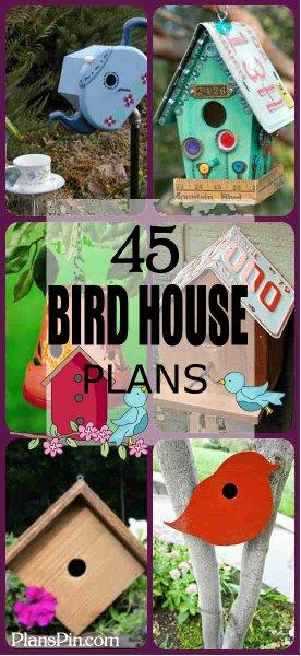 45 Free Bird House Plans at PlansPin.com