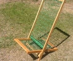 Light-weight woven lawn chair tuto