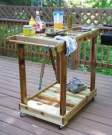 Build an Outdoor Grill Cart