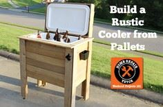 Rustic Cooler from Pallets - tut