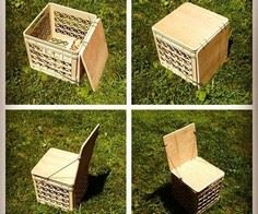 Milk Crate Chair for camping or Vi