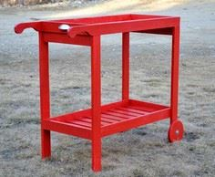 Rolling Bar Cart with Removable Tr