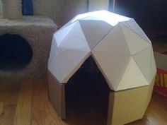 Cat-sized Cardboard Dome tutorial