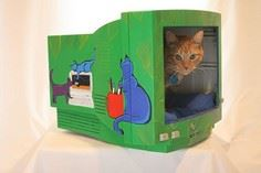 Make a Cat Bed from a Computer Mon