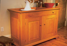 Cherry dry sink – Canadian Home Workshop
