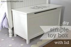 Simple Modern Toy Box with Lid - D