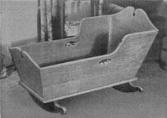 Early American BABY CRADLE Plans