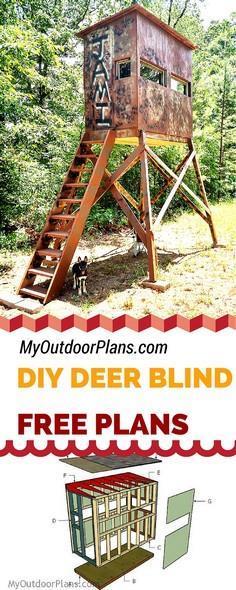 Deer Blind Plans Deer Box Plans Deer Stand Plans