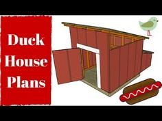 Duck House Plans - YouTube