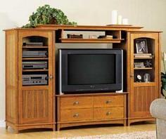 Entertainment Center Set Woodworking