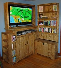 Rustic Entertainment Center with T