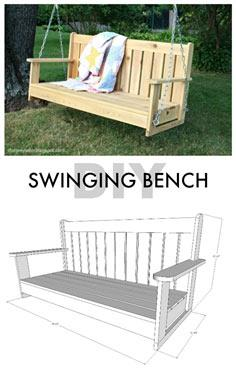 diy swinging bench free plans
