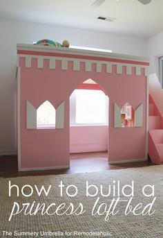 How to build a castle loft bed