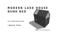 Modern Lakehouse Bunk Bed