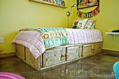 Rustic Storage Bed with Doors
