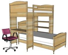 Chelsea Bunk Bed System Desk or Bo
