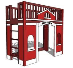 Build a Fire Station Loft Bed