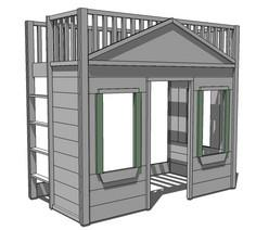 Build a Little Cottage Loft Bed |