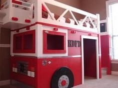 Build a Fire Truck Loft Bed