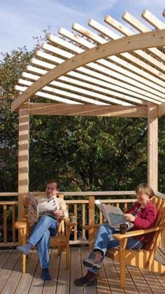 Build an Arched Pergola