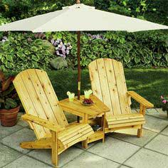 Double Adirondack Chair plans
