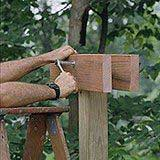 This simple arbor can frame a view