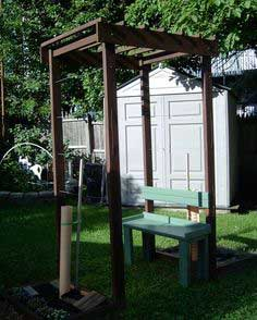 Grape Arbor with bench