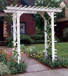 This entry arbor is affordable, elegant, and easy to build.