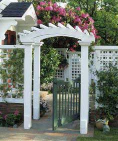 Create a pretty entryway to your yard or garden.