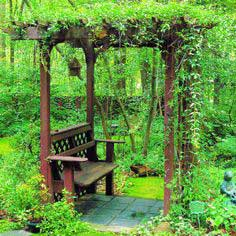 Build a bench with an arbor