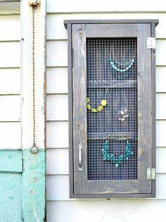 Build a Wall Jewelry Cabinet