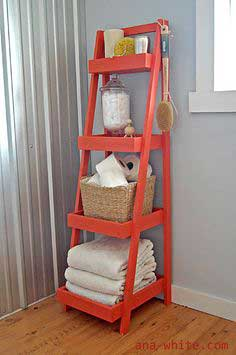 Build a Painter's Ladder Shelf