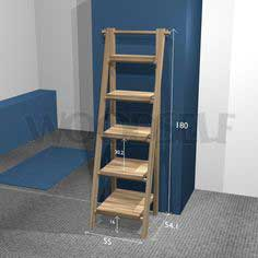 Ladder shelf - woodworking plan