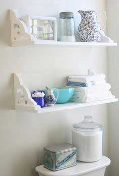 Victorian bracket bathroom shelf