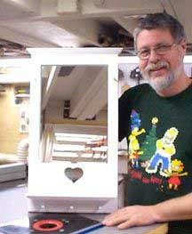 Make a Framed Mirror with a Shelf