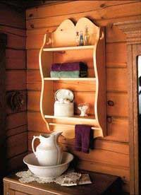 How to make bathroom shelves