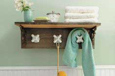 Towel rack made from vintage taps