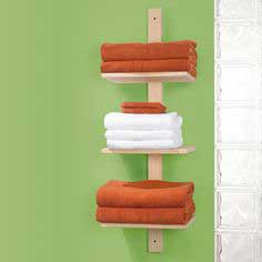 Wall-mount towel shelf unit