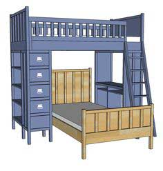 Build a Cabin Collection Single Bed | Free and Easy DIY Project and Furniture Plans
