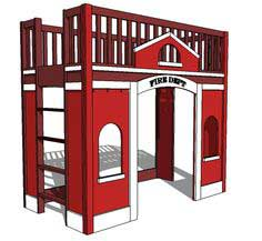 Build a Fire Station Loft Bed | Free and Easy DIY Project and Furniture Plans