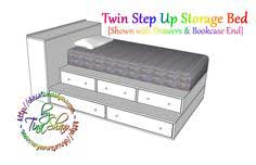 Build a Twin Step Up Storage Bed | Free and Easy DIY Project and Furniture Plans